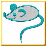 Mouse Machine Embroidery Design