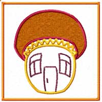 mushroom Machine Embroidery Design