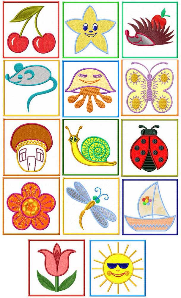 4 Hobby Machine Embroidery Designs Babies Kids Kids