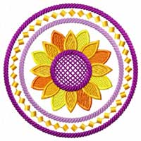 Sunflowers 12 Machine embroidery designs set