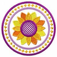 Sunflowers 12 Machine embroidery designs set