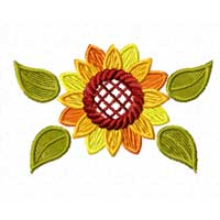 Free Sunflower Machine Embroidery Design