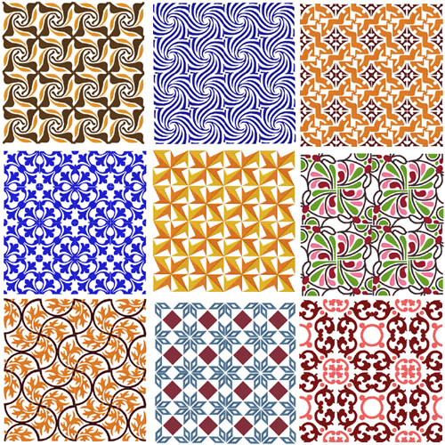 Tiles Machine Embroidery Designs set